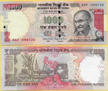 India 1000 Rupees P-107d 2014 Letter L UNC - India