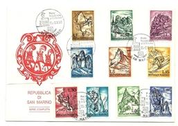 1962 - San Marino 597/606 Sport Invernali     8/25 - Inverno