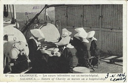 ARMEE D'ORIENT -n° 710- Les Soeurs Infirmières Sur Un Navire Hôpital-ed. H. Manuel - Guerre 1914-18
