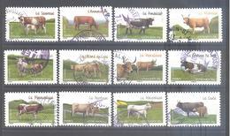 France Autoadhésifs Oblitérés N°953 à 964 (série Complète) (cachet Rond) - Used Stamps