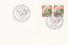 Trains: Italy Card P/m Antrodoco 1983 Cent. Ferrovia Rocca Di Corno-Rietel-Terni  (T12-25) - Treinen