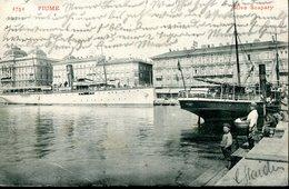 CROATIA FIUME 1904 GRAND HOTEL EUROPE RIVA SZAPARY VINTAGE POSTCARD - Croatia
