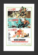 AFFICHES - POSTERS - CINÉMA - JAMES BOND AGENT 007 -  US POSTER FOR THUNDERBALL (1965) - Affiches Sur Carte