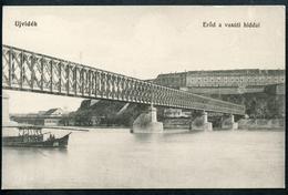 Ujvidek, Novi Sad, Eröd A   Vasuti Hiddal, Straßen-Eisenbahn-Brücke, 1915, Donau, Urban Ignac - Serbien
