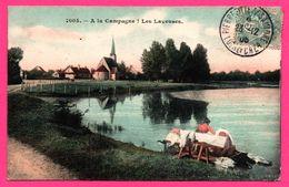A La Campagne - Les Laveuses - Église - Animée - 1906 - Colorisée - France