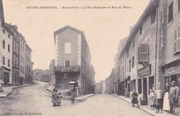 BOURG  ARGENTAL   ---   Rond Point - La Rue Nationale Et Rue Du Rhône - Bourg Argental