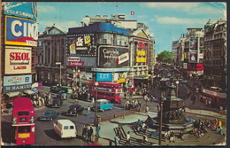 °°° 2027 - UK - LONDON - PICCADILLY CIRCUS - 1979 With Stamps °°° - Piccadilly Circus