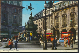 °°° 2028 - UK - LONDON - PICCADILLY CIRCUS - 1975 With Stamps °°° - Piccadilly Circus