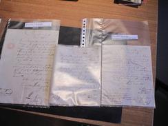 PETIT ROEULX 1841/1842/1843 - 15 Documents Manuscrits Signés Du Bourgmestre, Echevin, Autre ... - Documents Historiques