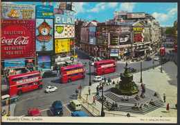 °°° 2029 - UK - LONDON - PICCADILLY CIRCUS - 1973 With Stamps °°° - Piccadilly Circus