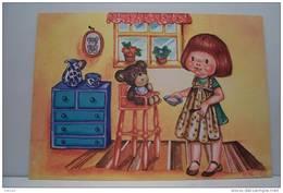 ENFANT -- OURS - OURSON  ---A  TABLE - Kindertekeningen