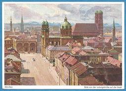 Deutschland: München, Blick Von Der Ludwigskirche Auf Die Stadt; Gemälde-Farb - Foto - Muenchen