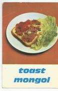 Toast Mongol Recette Pain Jacquet  Pub Publicité Format Cpm - Ricette Di Cucina