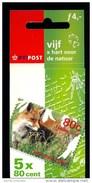 NETHERLANDS BOOKLET / CARNET PB64 5v 2001 * NATURE BIRDS FOX INSECT SALAMANDER BUG * MNH - Carnets Et Roulettes