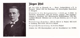 Personalkarte Wehrmacht - Jürgen Pfeil In Stargard Und Martin Petzsche In Plauen , Oelsnitz , Rostock , NSDAP , Arzt !!! - Historical Documents