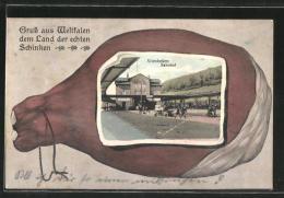 AK Altenbeken, Ansicht Des Bahnhofs In Einem Schinken - Altenbeken