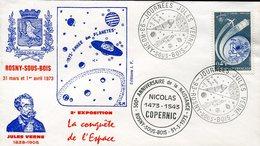 19708 France, Special Cover And Postmark 1973  Nicolas Copernic/kopernikus/kopernika - Astronomùia