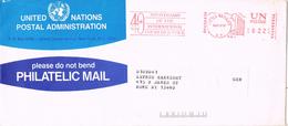 23559. Carta ONU New York (UN Postage) 1987. Franqueo Mecanico - ONU