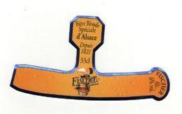 Etiquette (label) De Biere Française  ( Beer, Cerveza, Birra, Bier);Brasserie FICHER - Bière
