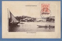 Constantinople Sur Le Bosphore Turquie Türkei Turkey CAD 1913 Beyrouth Timbre Surcharge Para 5 Conseil Pelerinages - Türkei