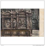 ZRGZTPA4304CPA-LFT5408TBES.Tarjeta Postal De ZARAGOZA.Edificiones Antiguas.Escultura.TRASCORO DE LA SEO.Zaragoza - Esculturas
