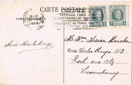 23564. Postal ANTWERPEN, Anvers (Belgien) 1928. Suscription Fonds Nationals - Bélgica