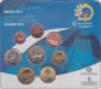 Grèce 2011 : Le Blister Officiel Avec Les 8 Pièces De 1c à 2€ - Grecia