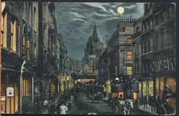 °°° 2034 - UK - LONDON - FLEET STREET AND ST. PAUL'S - 1904 With Stamps °°° - St. Paul's Cathedral
