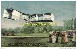 """CPA - Aviation - L´aéroplane """" Santos Dumont """" (Pub De Calais, CP Couleur) - (28) - Aviateurs"""