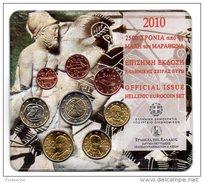 Grèce 2010 : Le Blister Officiel Avec Les 8 Pièces De 1c à 2€ - Grèce