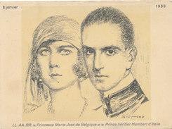 BELGIQUE / BELGIE / PRINCESSE MARIE JOSE ET LE PRINCE UMBERTO D ITALIE - Familles Royales