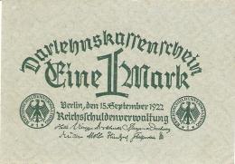 ALLEMAGNE   1 Mark   15/9/1922   P. 61a   UNC - [ 3] 1918-1933 : Weimar Republic