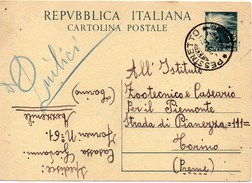 1950 Italia Italien Italy Intero Dem £15 Pessineto Vg - Entero Postal