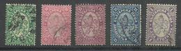 """Bulgarien 15-18,25 """"5 Freimarken Mit Dem Wappenlöwen"""" Gestempelt Michel :7,00 € - 1879-08 Principauté"""
