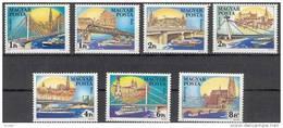 Hongarije Hongrie 1984 Yvertn° 2959-65 *** MNH Cote 6,00 Euro Ponts Bruggen - Nuevos