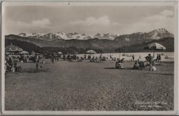 Luzern - Strandbad Lido Und Die Alpen - Animee - Photo: E. Goetz No. 3692 - LU Lucerne
