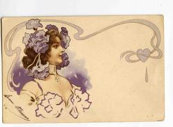 C 19568   -   Belle Jeune Femme  -  Style Mucha  -  Art Nouveau  -  Litho - Illustrateurs & Photographes