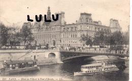 DEPT 75 : édit. L L N° 118  Paris 04 ,l Hotel De Ville Et Le Pont D Arcole - District 04