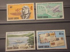 ST. LUCIA - 1980 AVIATORE  4 VALORI -NUOVO(++) - St.Lucia (1979-...)