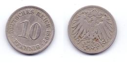 Germany 10 Pfennig 1897 A - 10 Pfennig