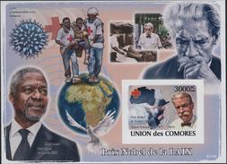 COMORES Tp 6701 ** MNH Imperf Non Dentelé : Albert SCHWEITZER Kaysersberg Lambaréné Gabon NOBEL Paix - Albert Schweitzer