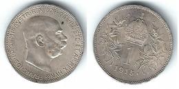 AUSTRIA IMPERIO CORONA 1915 PLATA SILVER T - Austria