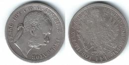 AUSTRIA IMPERIO FLORIN 1877 PLATA SILVER T - Austria
