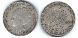 HOLANDA  GULDEN 1929 PLATA SILVER T - 1 Florín Holandés (Gulden)