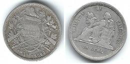 GUATEMALA  REAL 1890 PLATA SILVER T - Guatemala