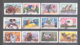France Autoadhésifs Oblitérés N°977 à 988 (série Complète) (cachet Rond) - Used Stamps