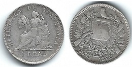 GUATEMALA  REAL 1896 PLATA SILVER T BONITA - Guatemala
