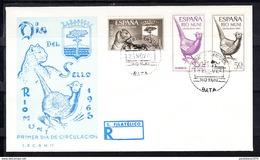 RIO MUNI 1965 FDC  SOBRE 1er DIA. DIA DEL SELLO  FAUNA      EDIFIL Nº 66/68  CN1178 - Río Muni