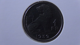 Belgium - 1939 - 1 Franc - Legend - 'BELGIE - BELGIQUE' - KM 120 - XF - Look Scans - 1934-1945: Leopold III