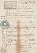 Connaissement Lettre Voiture 16/10/1845 NOUVELLE RIVERAINE Transport Par Eau Entre Toulouse Et Bordeaux - Transports